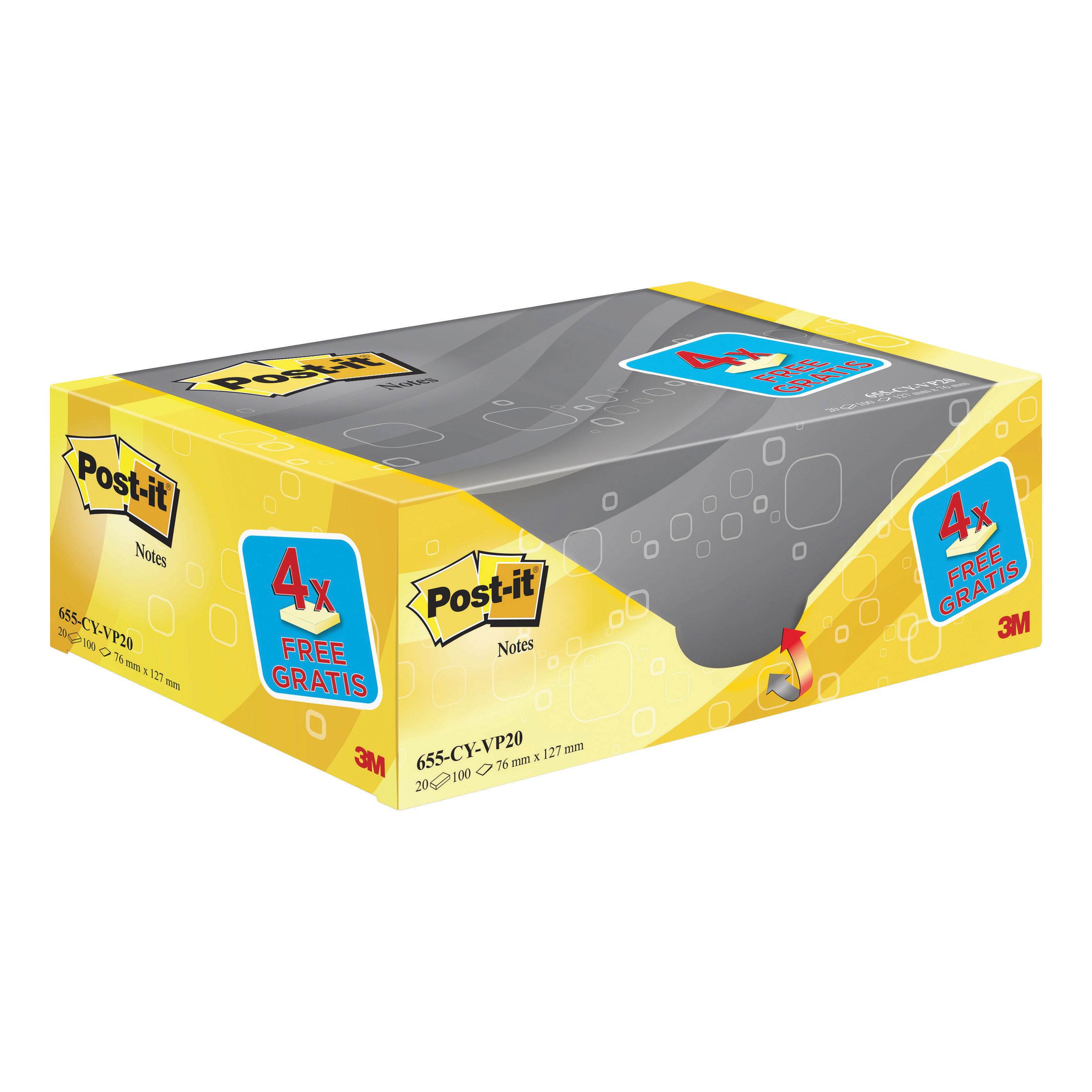 Postit PEFC Note Dsp 76X127 Pk16 plus 4
