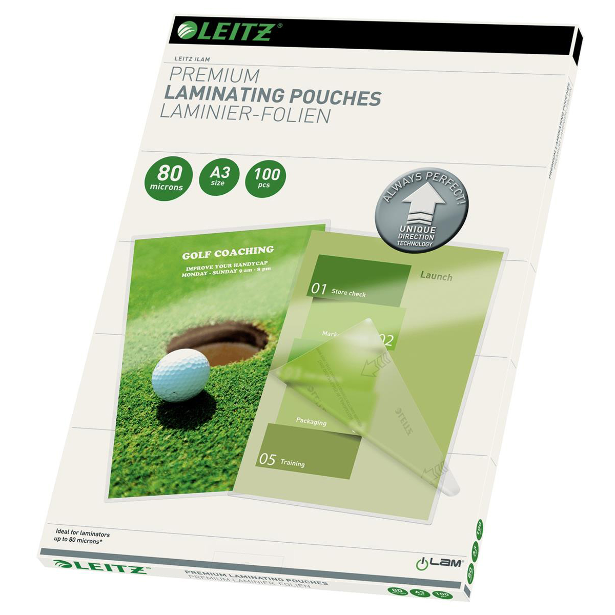 Leitz Laminator Pouch 160 Micron A3 Clear Ref 74850000 [Pack 100]
