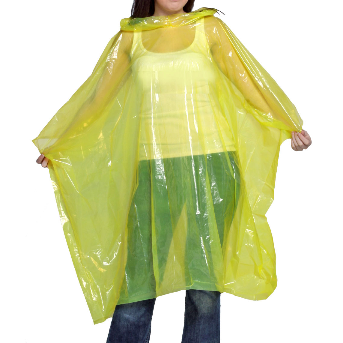 Waterproof Rain Poncho Yellow Ref WRPY [Pack 10] *Up to 3 Day Leadtime*