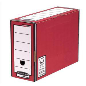 Bankers Box by Fellowes Premium Transfer File Red and White Ref 00058-FF [Pack 10]