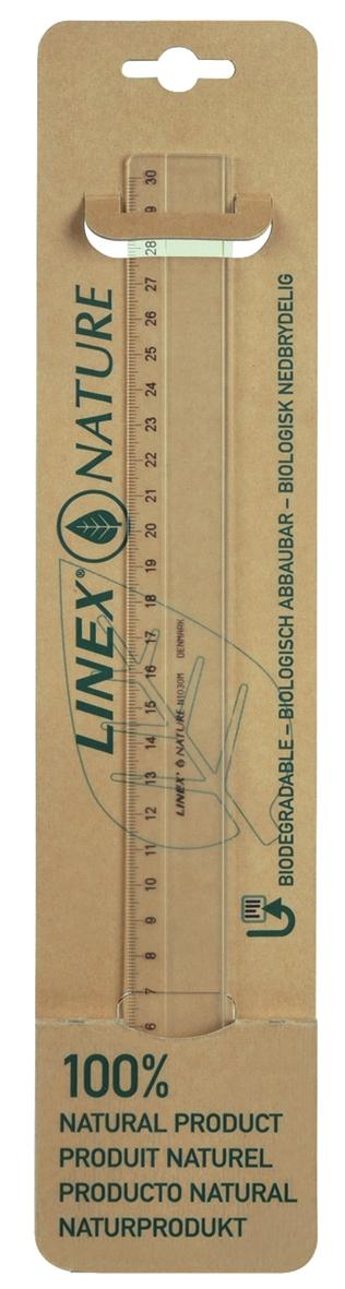 Linex Nature Ruler 300mm Clear Lxon1030