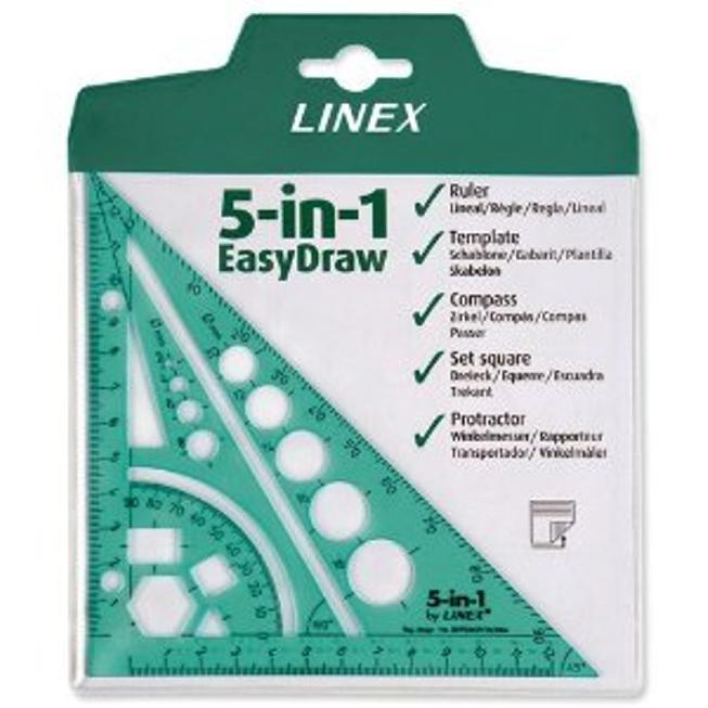 Linex 5-In-1 Drawing Aid Green Lxg5In1