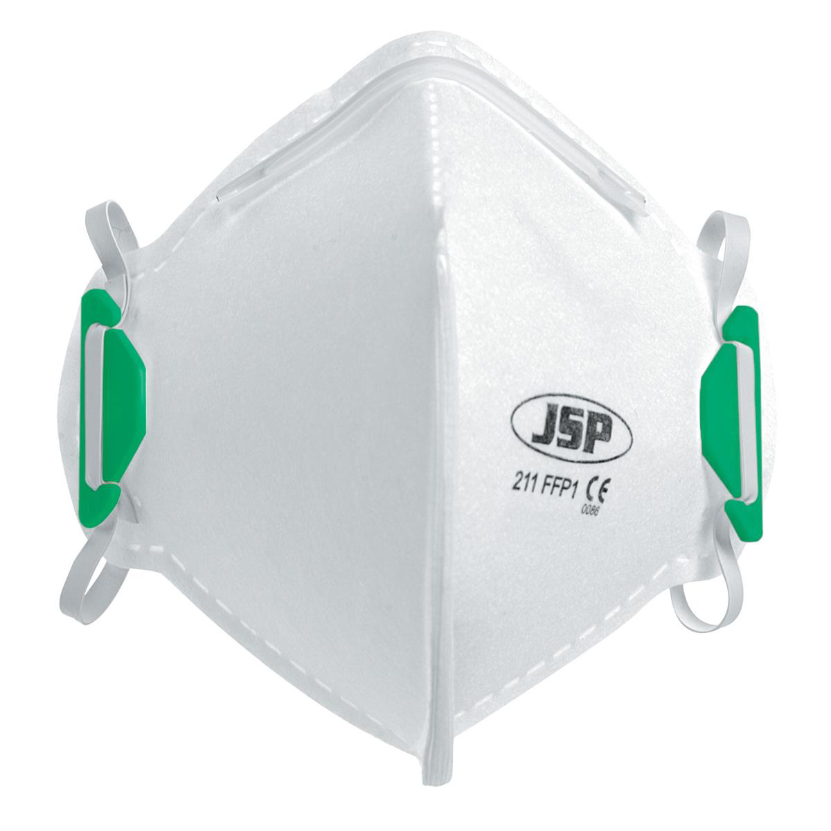 JSP Disposable Mask Fold-flat FFP1 Class 1 EN149:2001 & A1:2009 Standard Ref BEA110-101-000 [Pack 20]