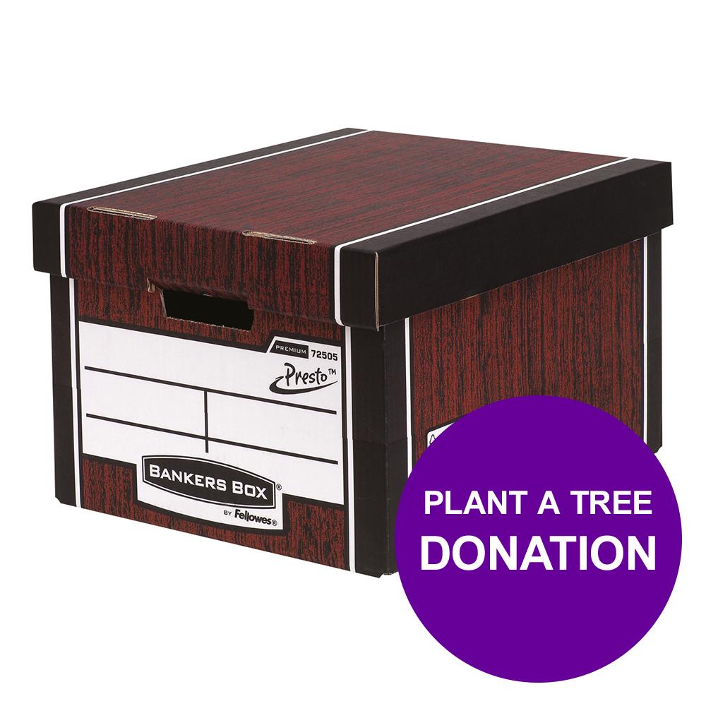 Bankers Box Premium Storage Box Classic Woodgrain Ref 7250503 [12 For 10] [REDEMPTION] Apr-Jun 19