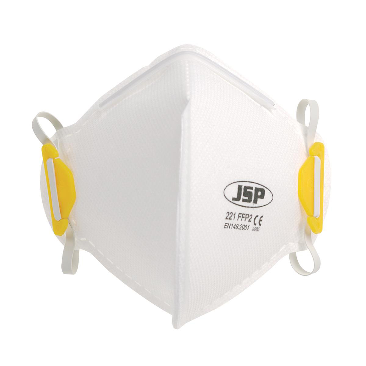 JSP Disposable Mask Fold-flat FFP2 Class 2 EN149:2001 & A1:2009 Standard Ref BEA120-101-000 [Pack 20]