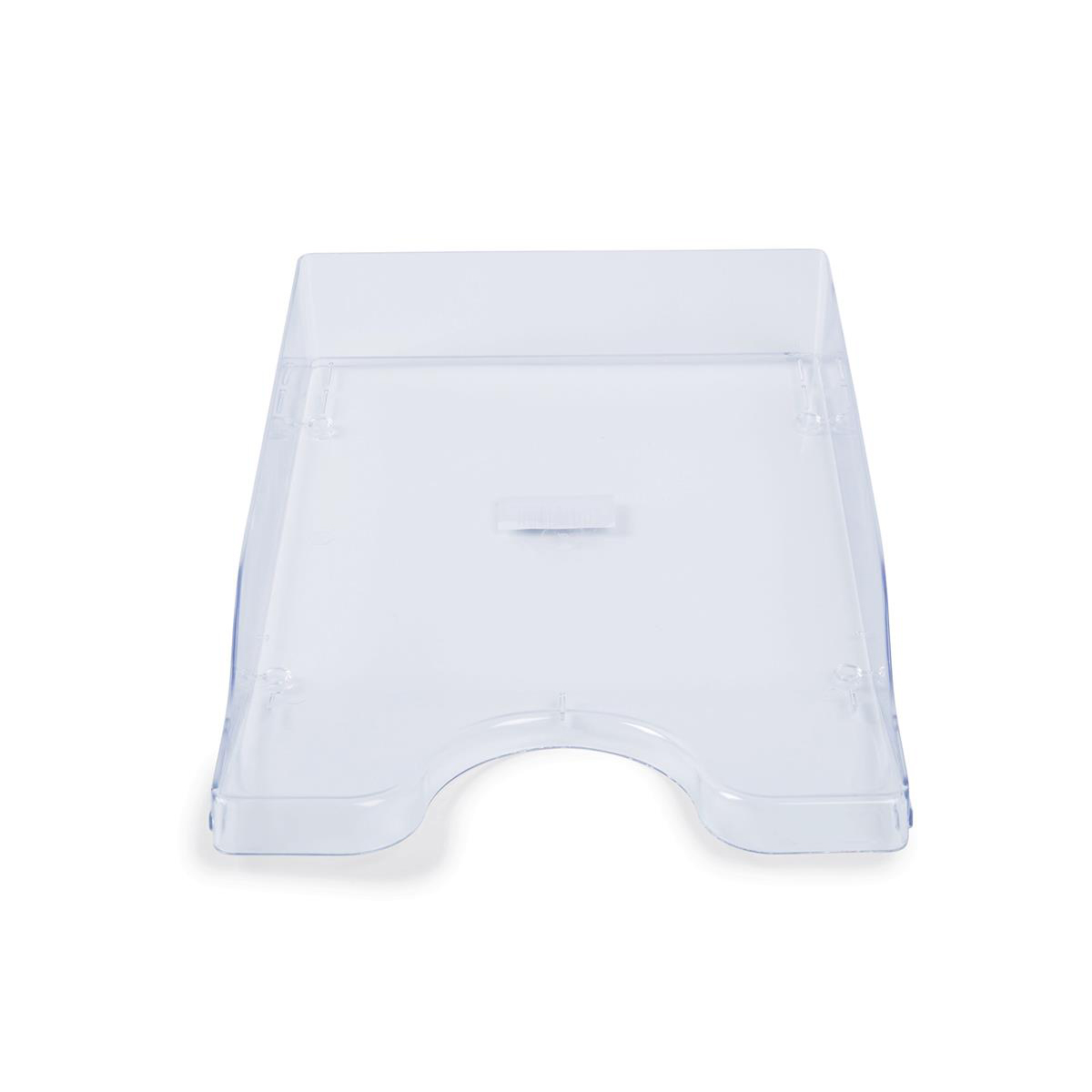 Continental Letter Tray Polystyrene for A4 Foolscap and Computer Printouts Crystal Clear