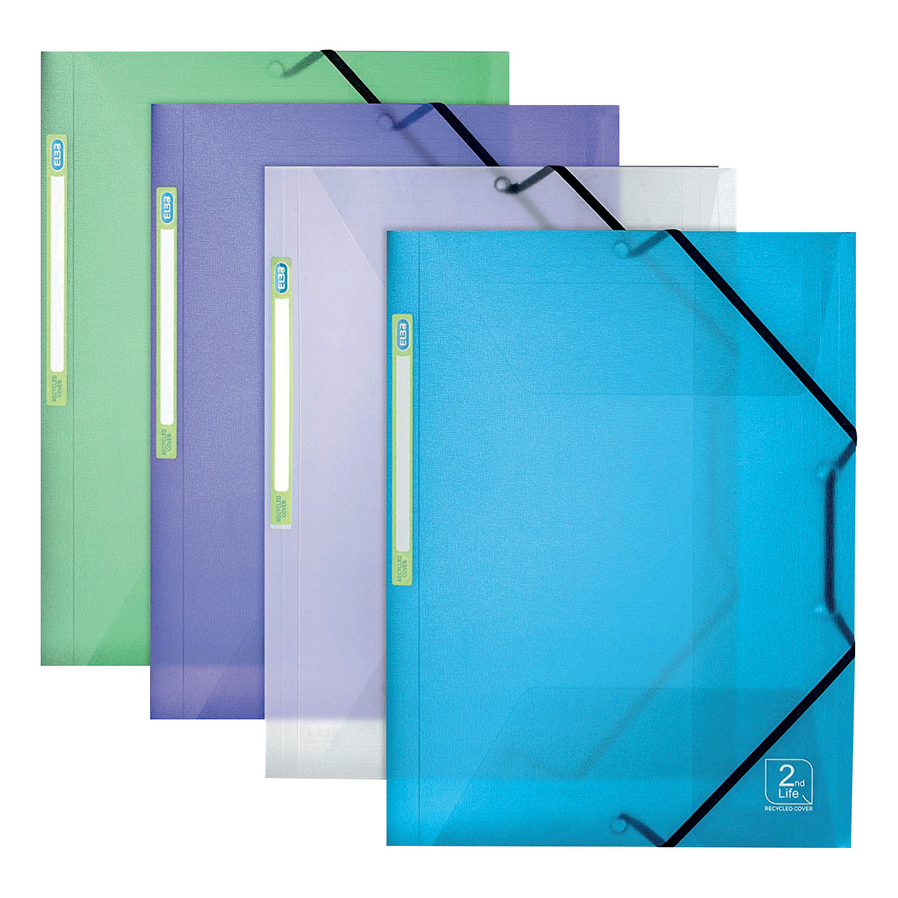 Elba2ndLife A4 Elast PP Folders Astd Pk4