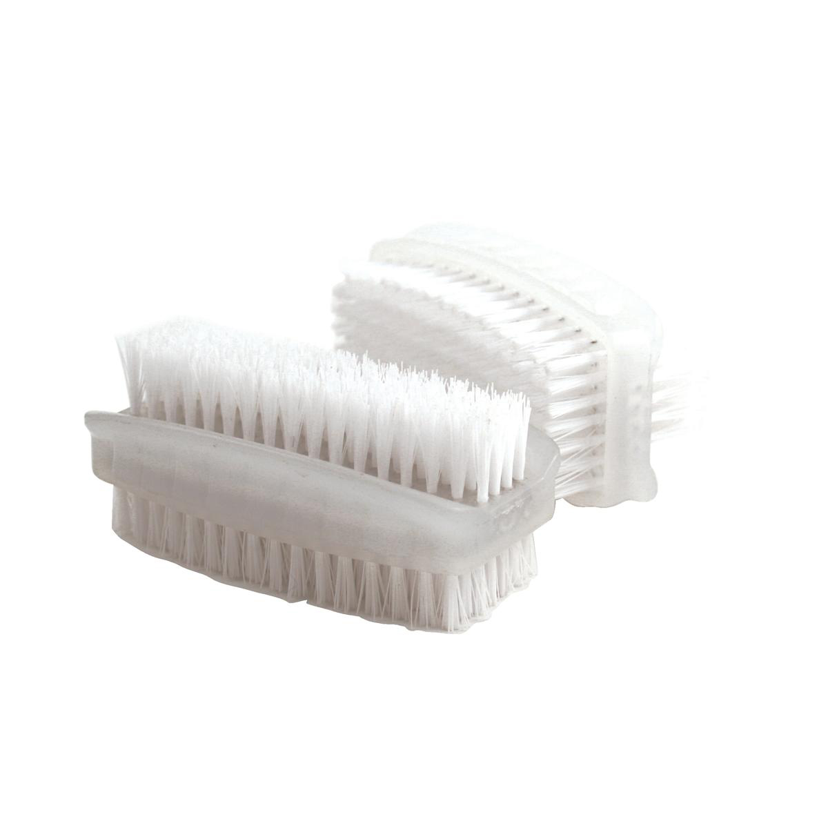 Image for Nail Brush Double Sided Plastic White [Pack 2]