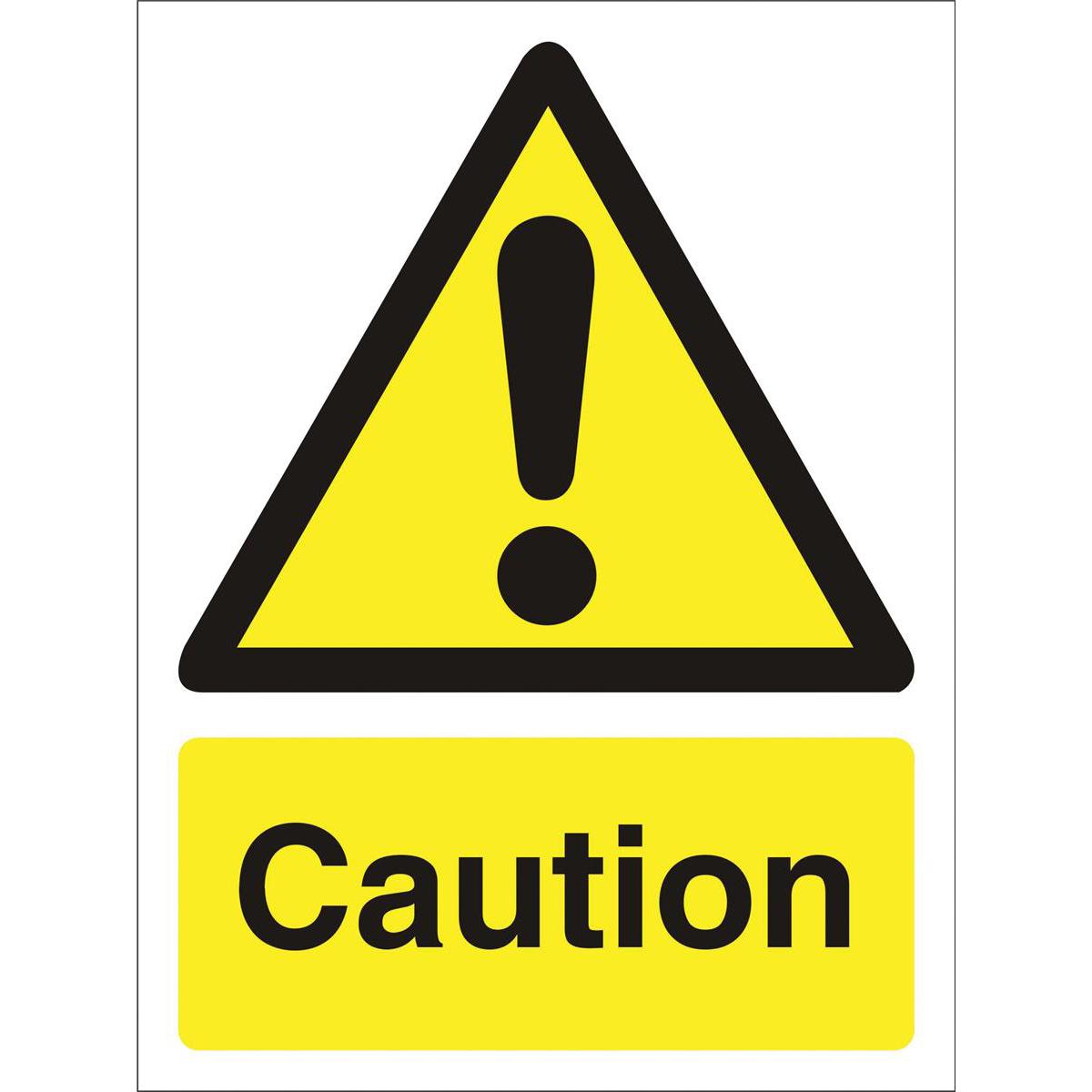 Stewart Superior Caution logo only W150xH200mm Self-adhesive Vinyl Ref WO125SAV