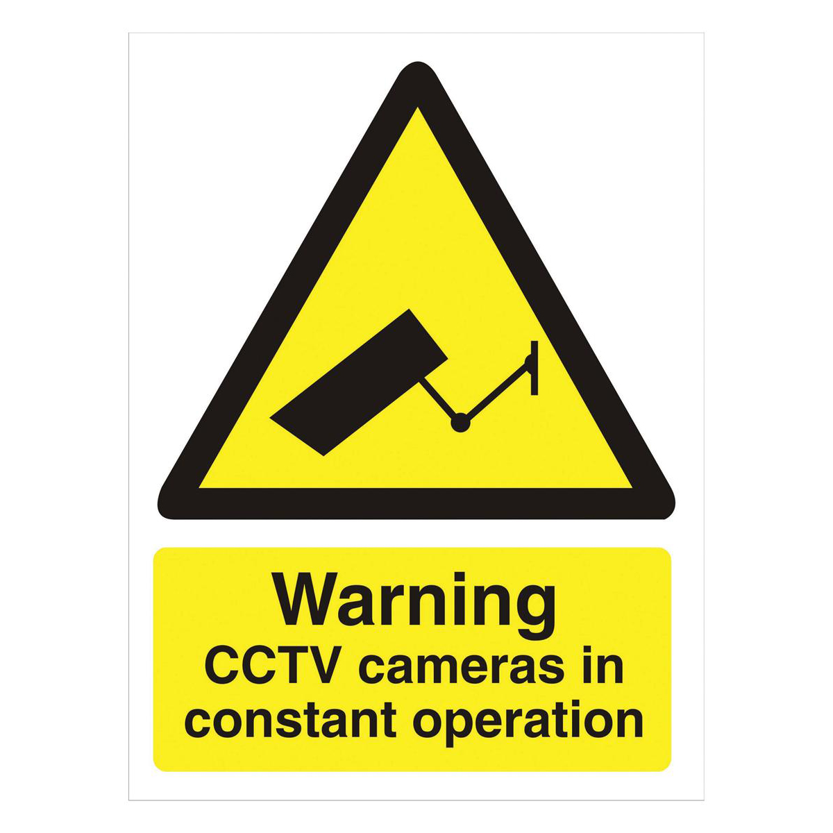 Stewart Superior Caution CCTV Cameras in Operation Sign  W150xH200mm Self-adhesive Vinyl Ref WO143PVC