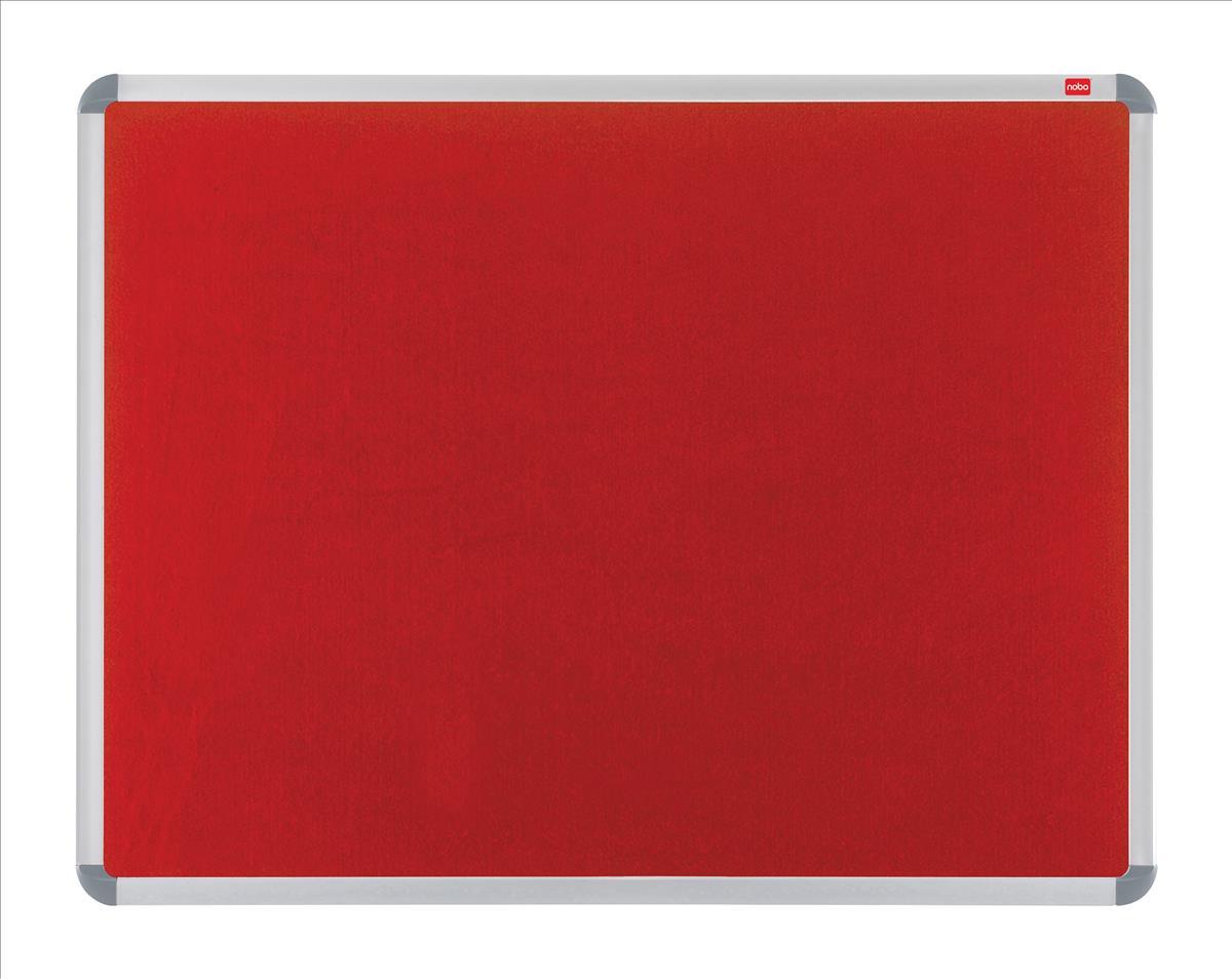 Nobo Gemini Aluminium Frame Noticeboard Red 1200x900mm Code 30230192