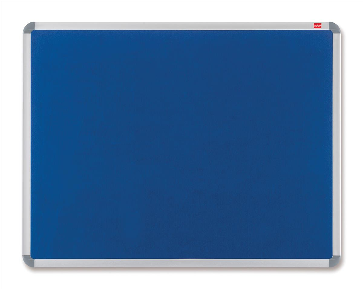 Nobo Euro Plus Noticeboard Felt with Fixings and Aluminium Frame W1831xH1220mm Blue Ref 30230184
