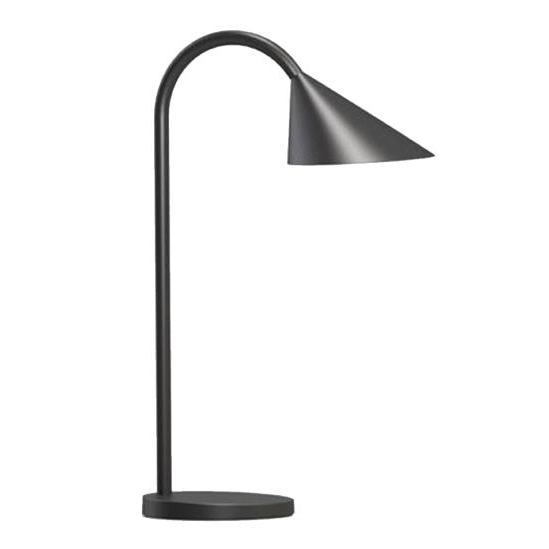 Unilux Sol LED Desk Lamp Adjustable Arm 4W Max Height of 450mm Base Diameter 140mm Black Ref 400086979