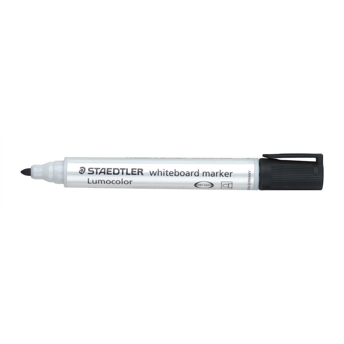 Staedtler Lumocolor 351 Drywipe Black Pack of 10 351-9
