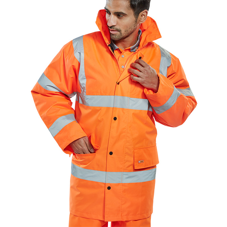 B-Seen High Visibility Constructor Jacket Medium Orange Ref CTJENGORM *Up to 3 Day Leadtime*