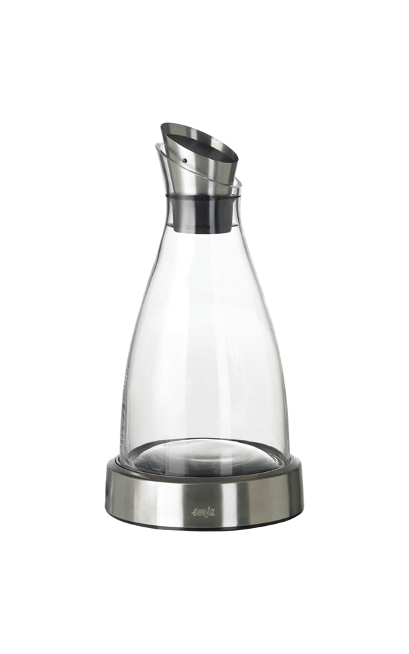 Cooling Carafe Glass and Stainless Steel with Removable Cooling Disk 1 Litre