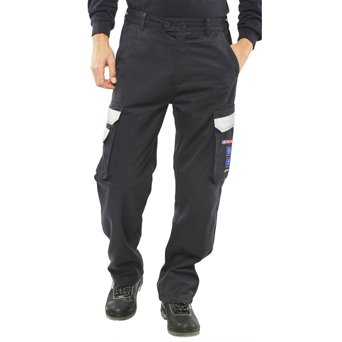 15e9875dcf06 Click Arc Flash Trousers Fire Retardant Navy Blue 44 Ref CARC4N44  Up to 3  Day Leadtime