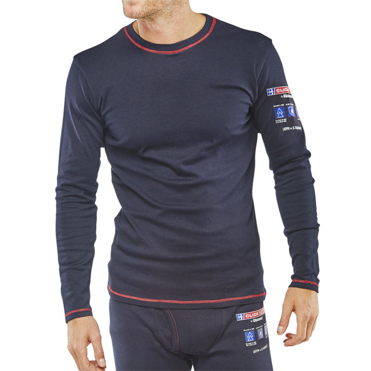 489cfd6bc0c1 Click Arc Compliant T-Shirt Long Sleeve Fire Retardant 3XL Navy Ref  CARC22XXXL  Up to 3 Day Leadtime