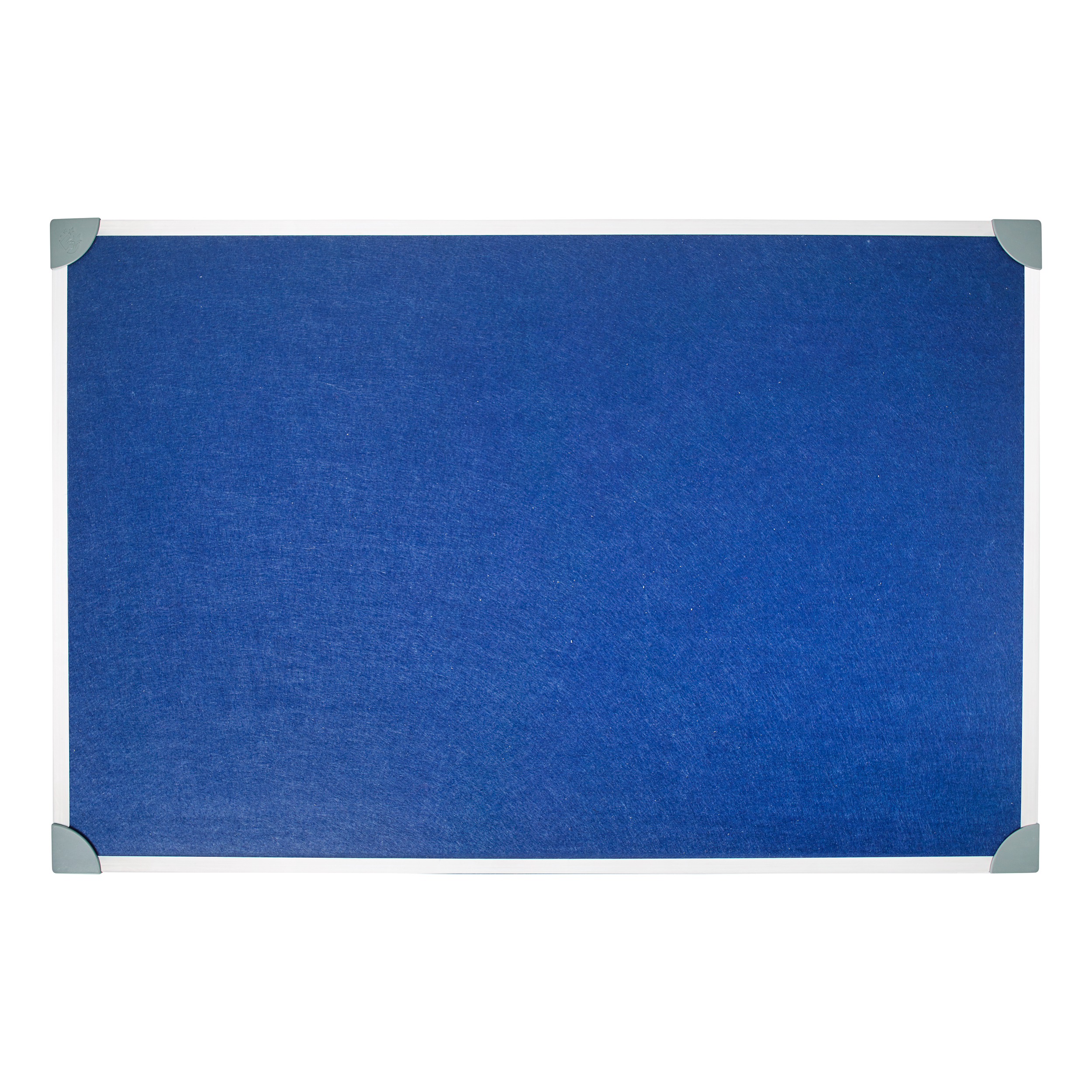 5 Star Office Felt Noticeboard with Fixings and Aluminium Trim W900xH600mm Blue