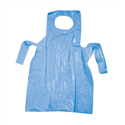 Disposable Polythene Aprons On Roll 17 Micron 27 x 46in Blue [Pack 200]
