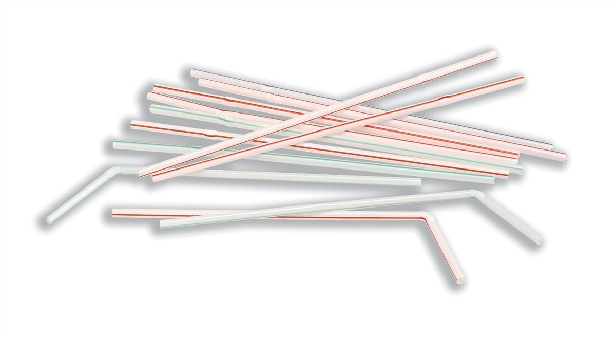 CaterX Plastic Straws Assorted Pack 100