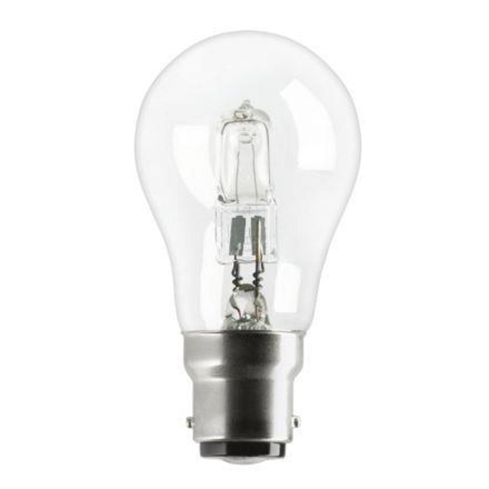 Image for GE Bulb Halogen 77W B22d GLS Bayonet Fitting Energy Saving Dimmable Clear Ref 62576