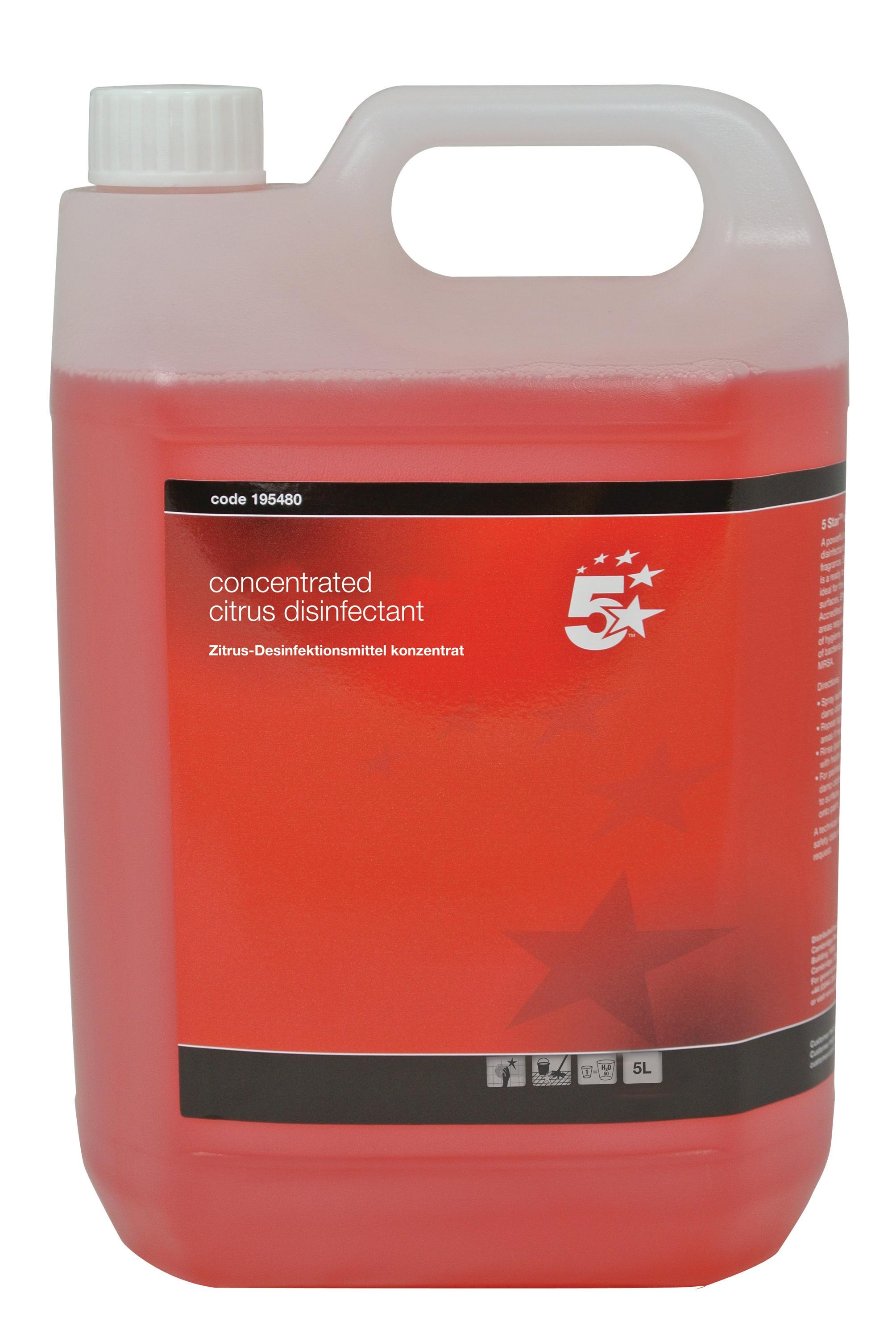 5 Star Citrus Disinfectant 2x 5 Litre