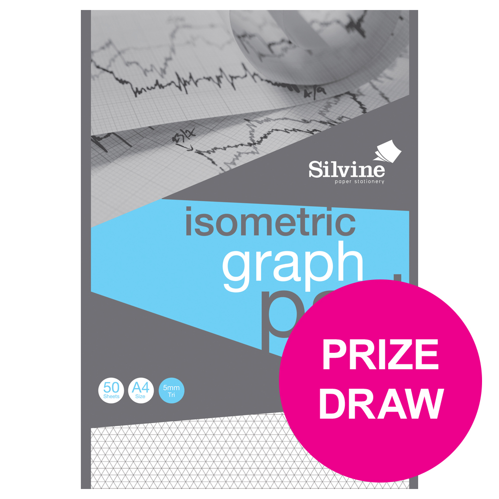 Silvine A4 Isometric Graph Pad 90g