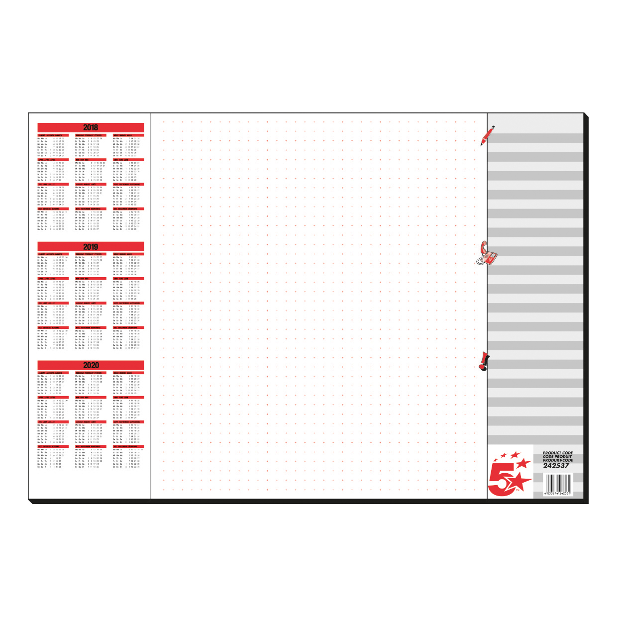 5 Star Paper Desk Pad Z0042