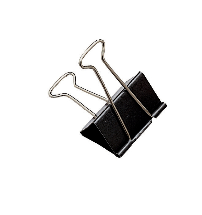 Value Foldback Clips 32mm Black (PK10)