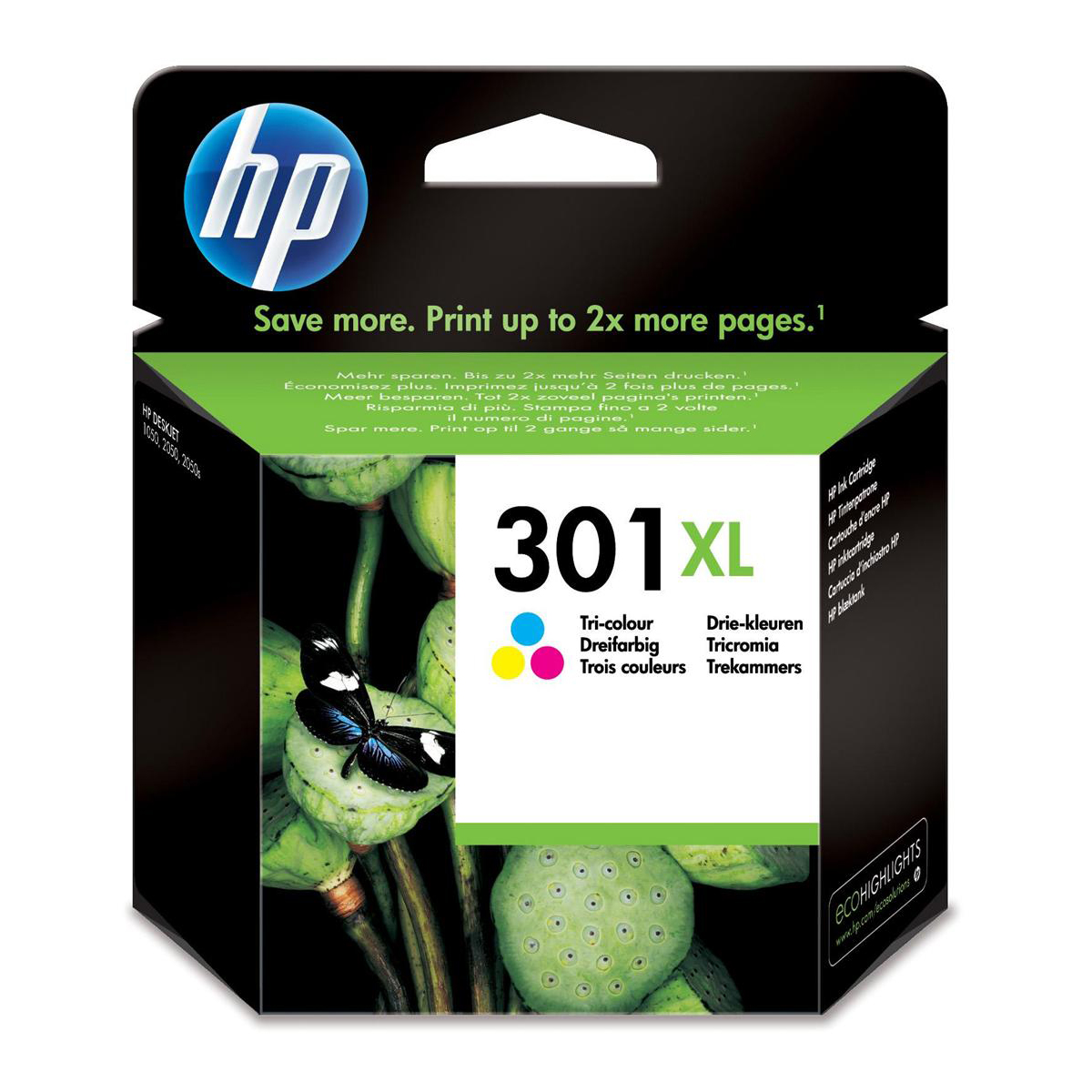 Hewlett Packard [HP] No.301XL Inkjet Cartridge High Yield Page Life 330pp 6ml Tri-Colour Ref CH564EE