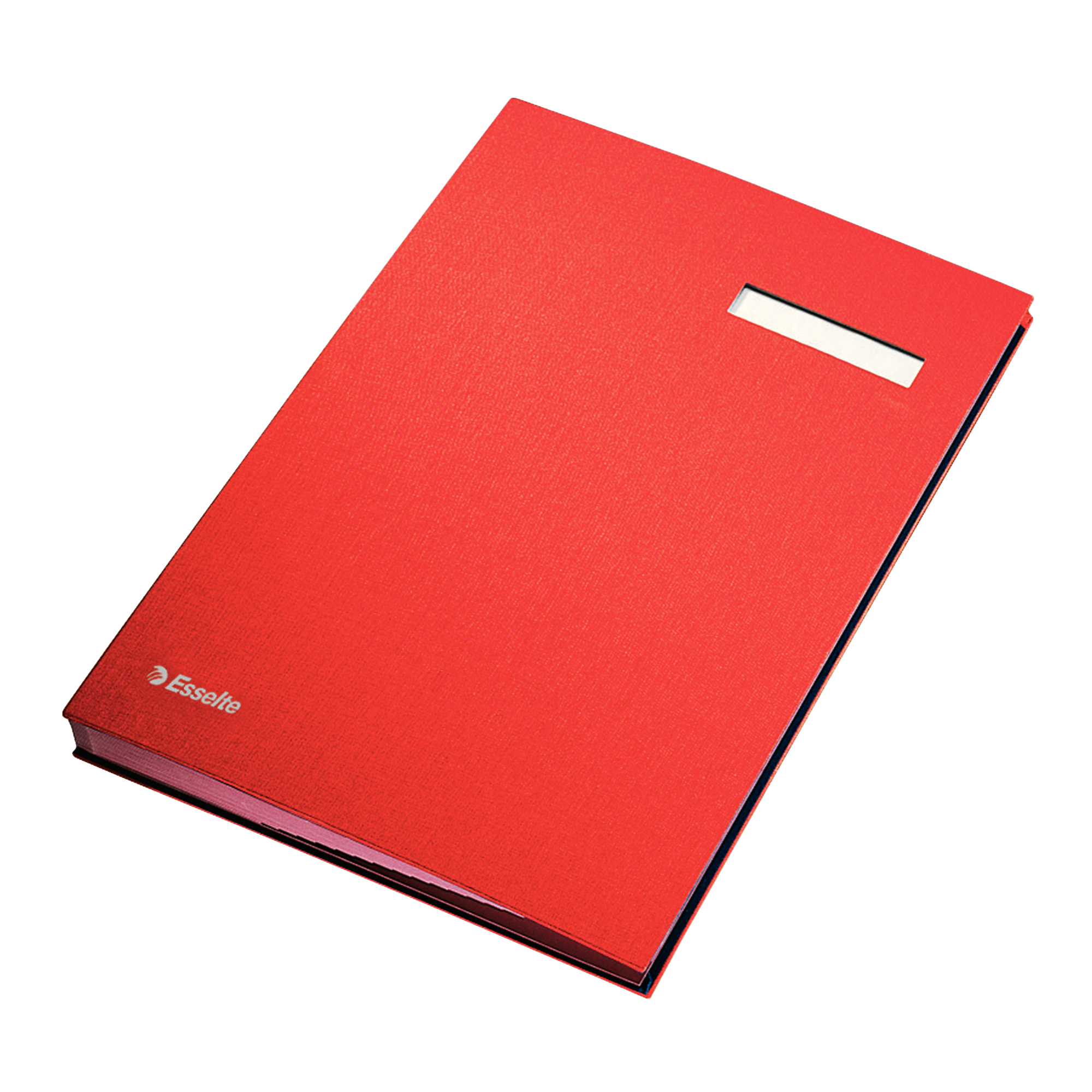 Signature Book 20 Compartments Durable Blotting Card 340x240mm Red