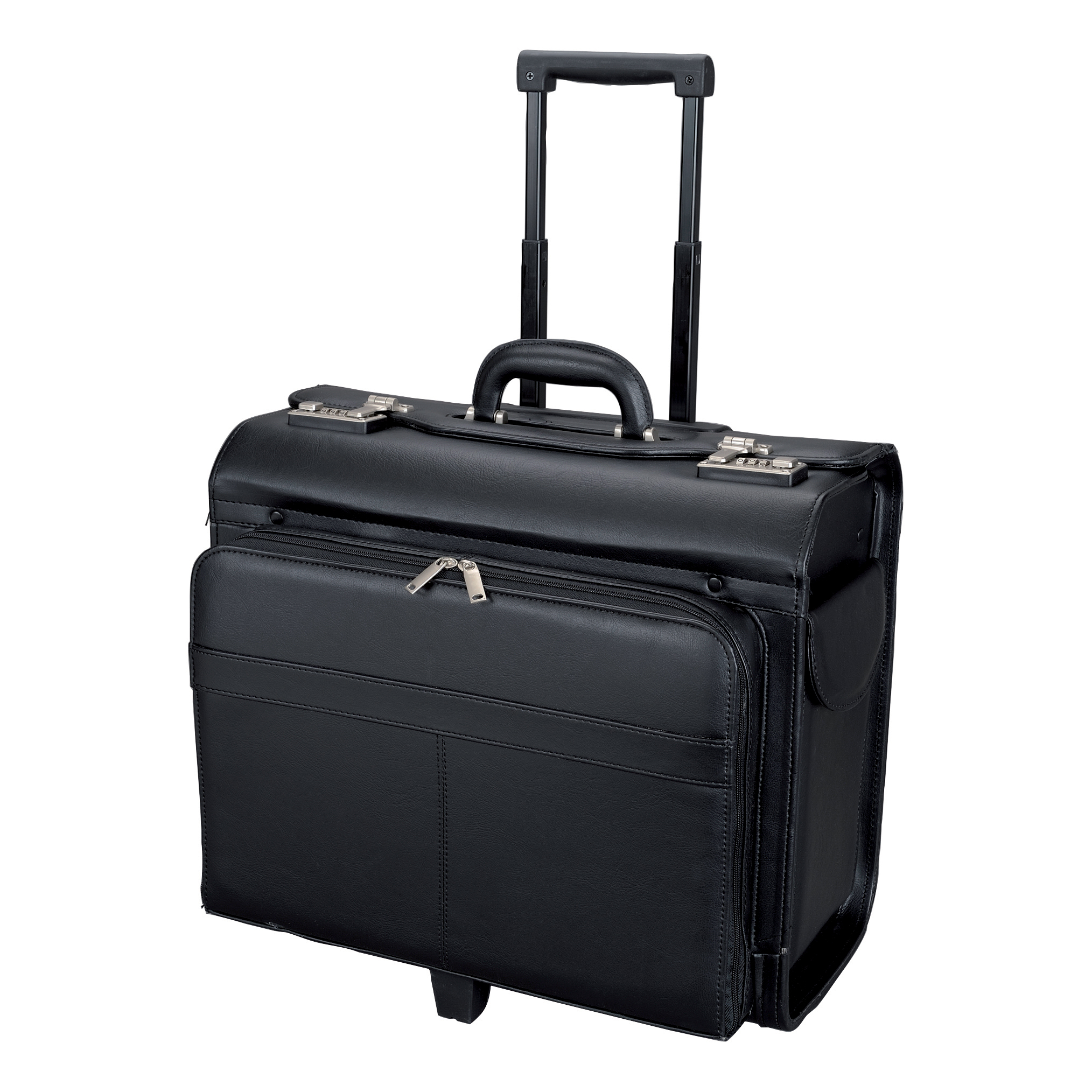 b96ace0bd87 Alassio San Remo Trolley Pilot Case Multi-section 2 Combination Locks  Leather-look Black Ref 45030 - Quest Systems