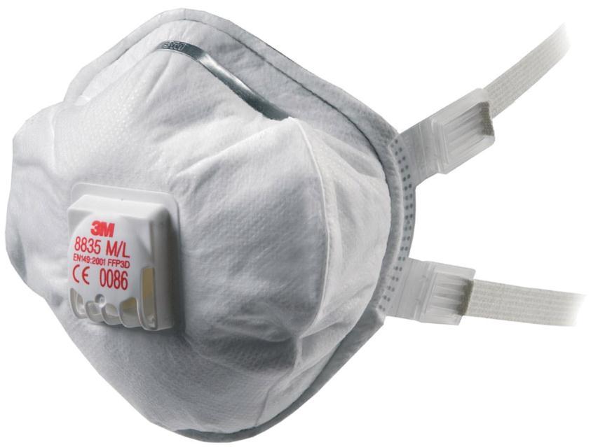 3M 8835 FFP3 Valved Respirator Pk5 8835