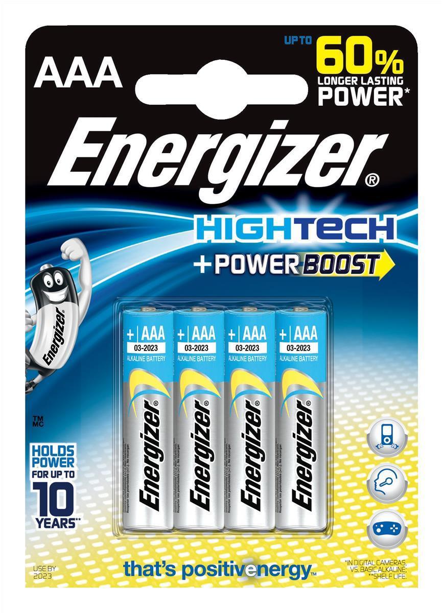 Energizer HighTech AAA Pk4 637445