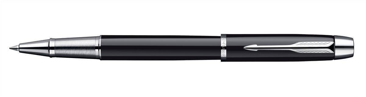 Parker I.M. Black Chrome Trim Roller Ball Pen Code S0856350