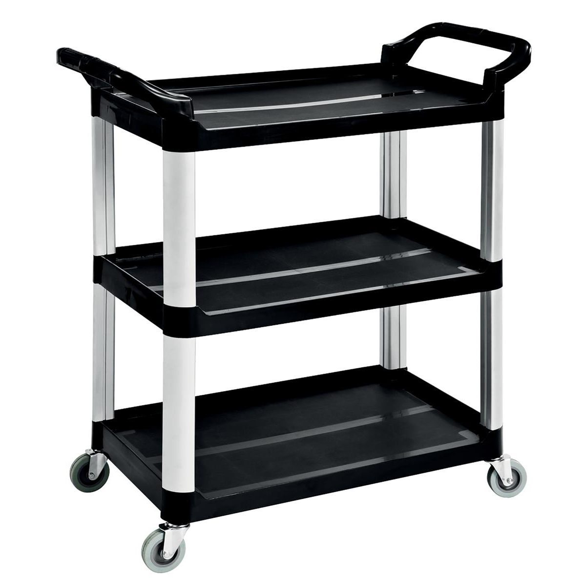 5 Star Facilities Utility Tray Trolley Standard 3 Shelf Capacity 150kg W460xD750xH980mm