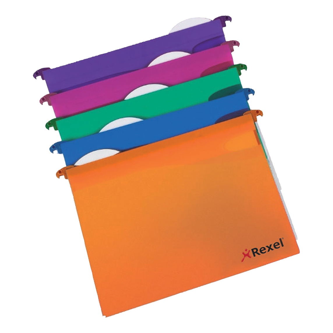 Rexel Multifile Extra Suspension File Polypropylene 30mm Wide-base A4 Assorted Ref 2102573 [Pack 10]