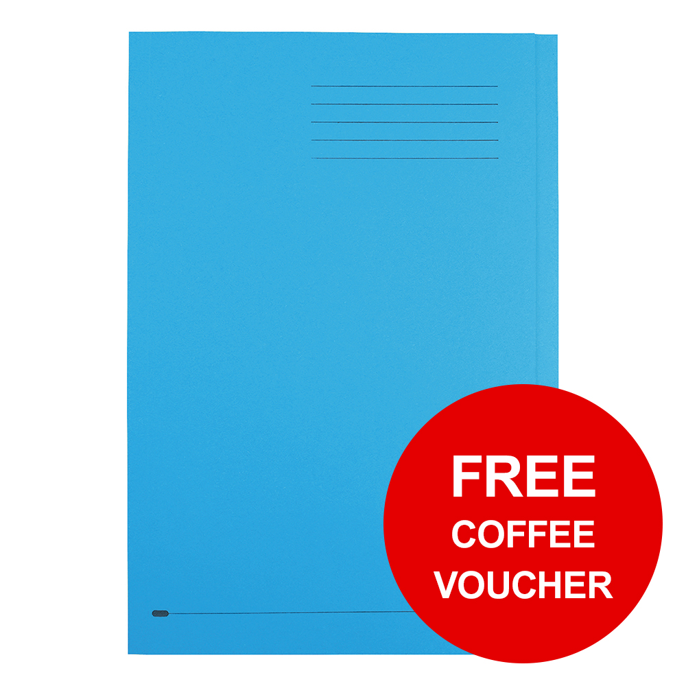 Elba StrongLine Square Cut Folder 320gsm 32mm Foolscap Blue Ref 100090020 [Pack 50] [REDEMPTION]