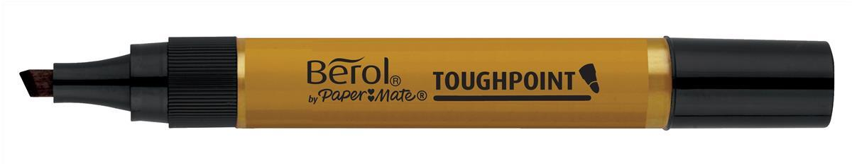 Berol Toughpoint Marker Chisel Tip Black (Pack of 12) S0679690