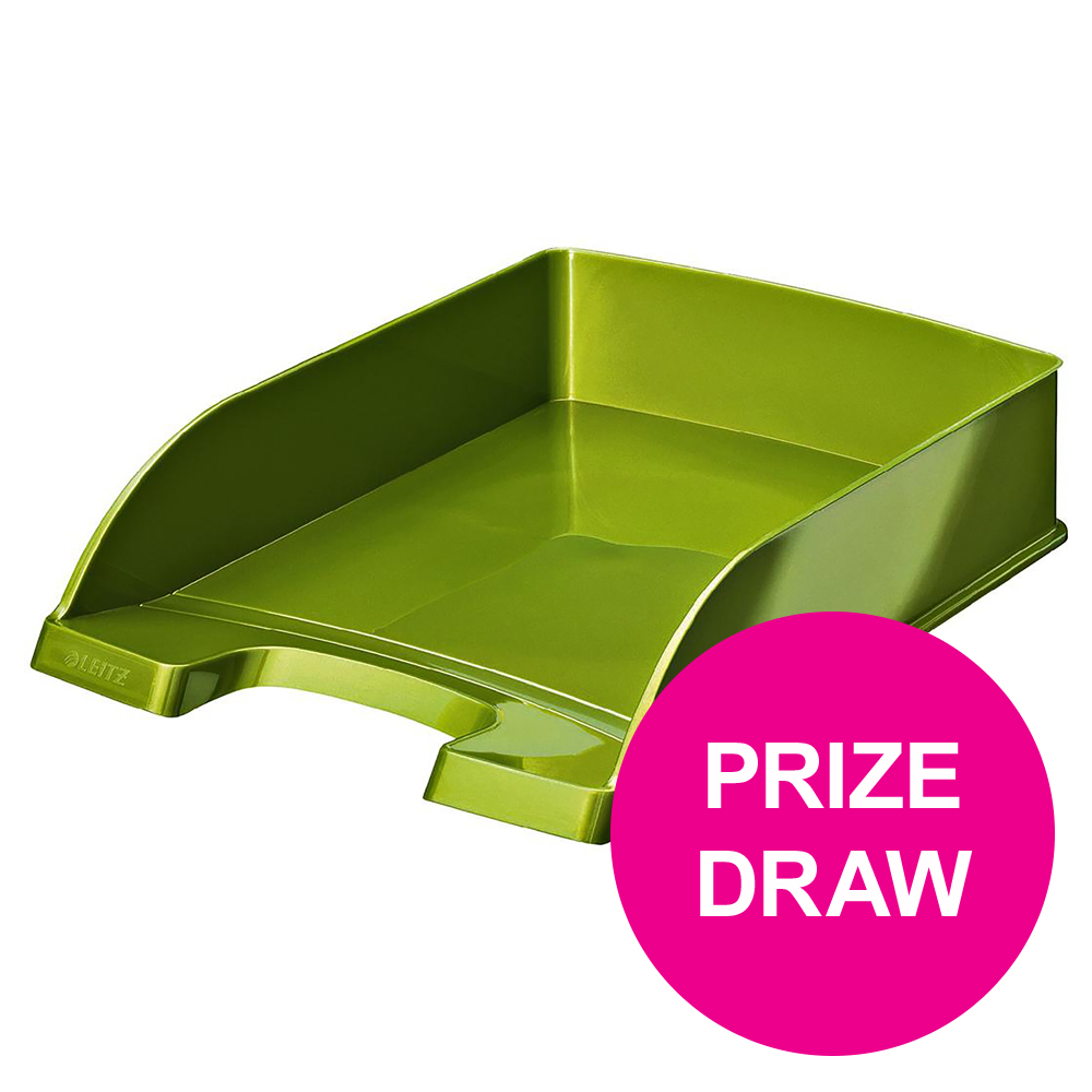 Leitz Bright Letter Tray Stackable Glossy Metallic Green Ref 52263064 [COMPETITION]