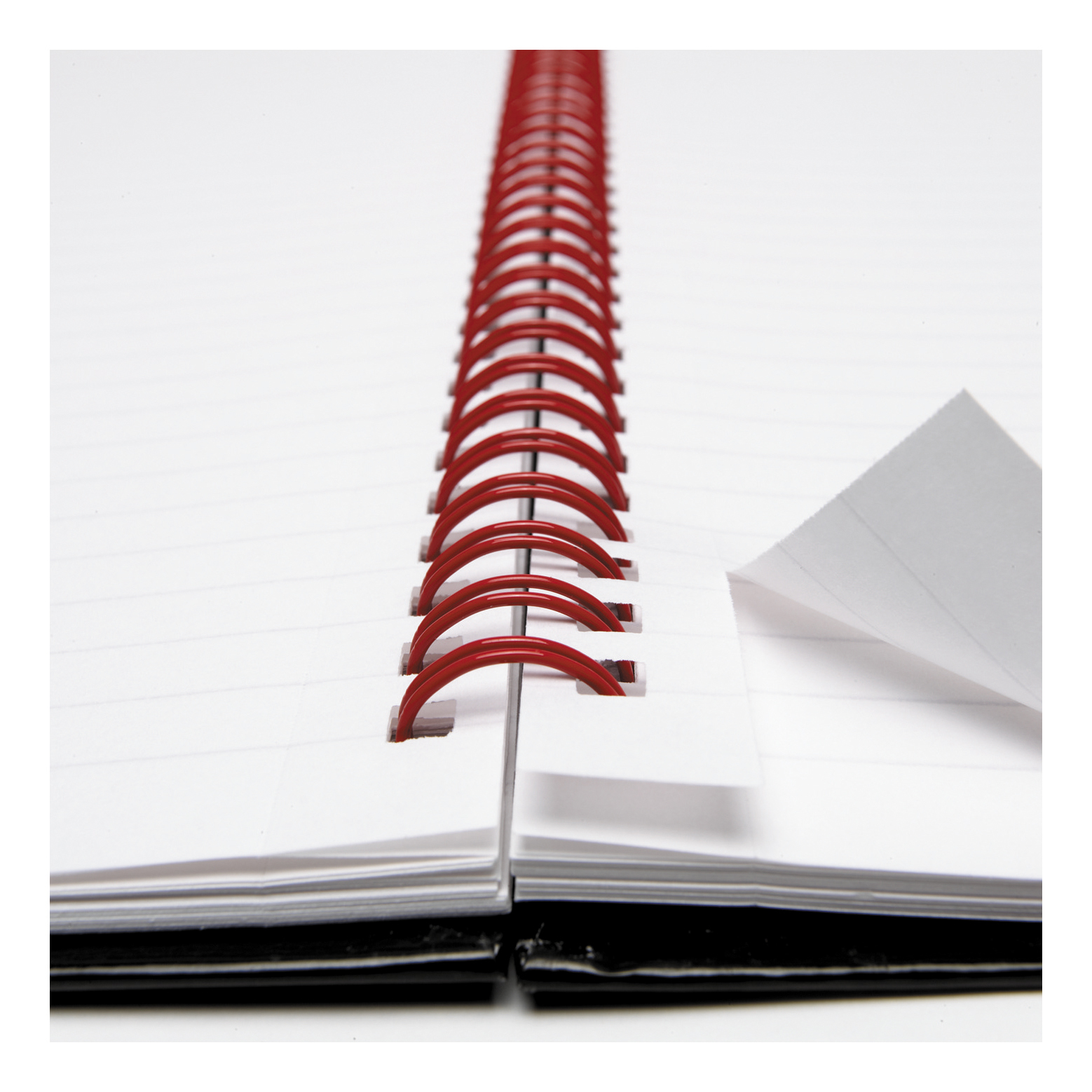 OxfordBlack n Red A4 Glossy Wirebound Hardback Notebook Ruled 140 Pages New