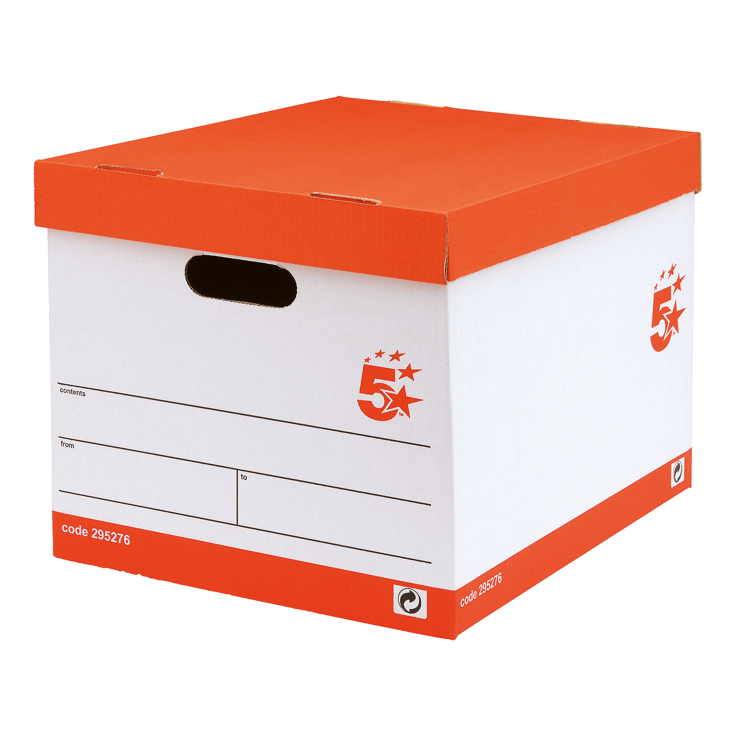 5 Star FSC Storage Box Oyster White