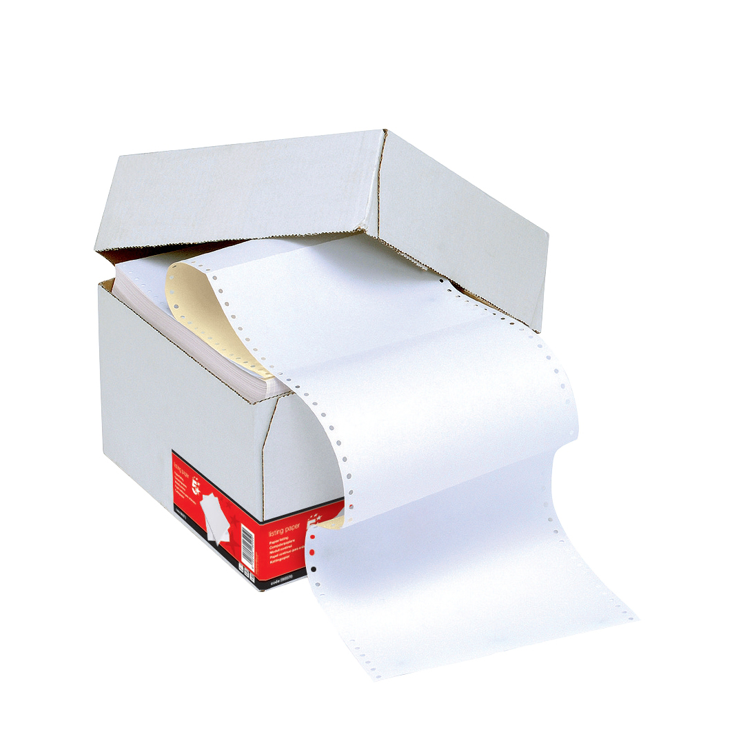 5 Star Office Listing Paper 2-Part Microperforated Carbonless 1000 Sheets per Box A4 2 Colours 1 Box