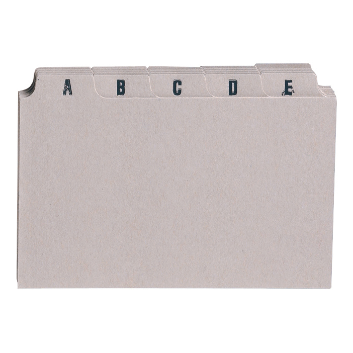5 Star Guide Card Set A-Z 8x5in 203x127mm Buff Pack 25