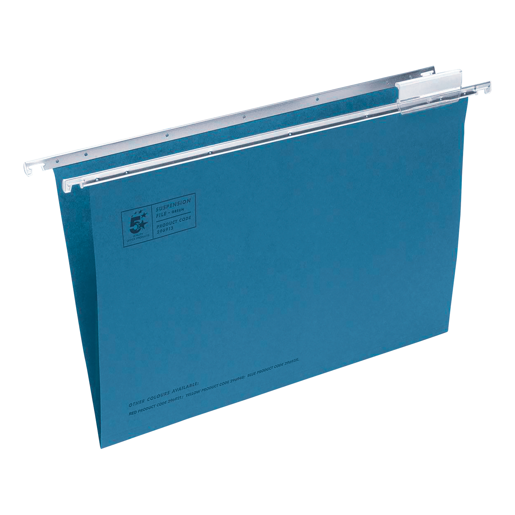 5 Star Office Suspension File Manilla with Tabs and Inserts Foolscap Blue [Pack 50]