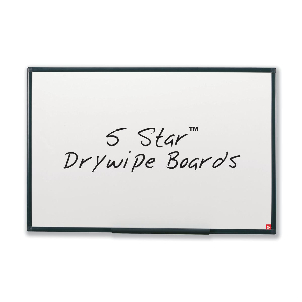 Image for 5 Star Office Drywipe Non-Magnetic Board with Fixing Kit and Detachable Pen Tray W900xH600mm