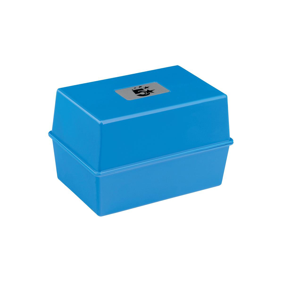 Image for 5 Star Office Card Index Box Capacity 250 Cards 5x3in 127x76mm Blue