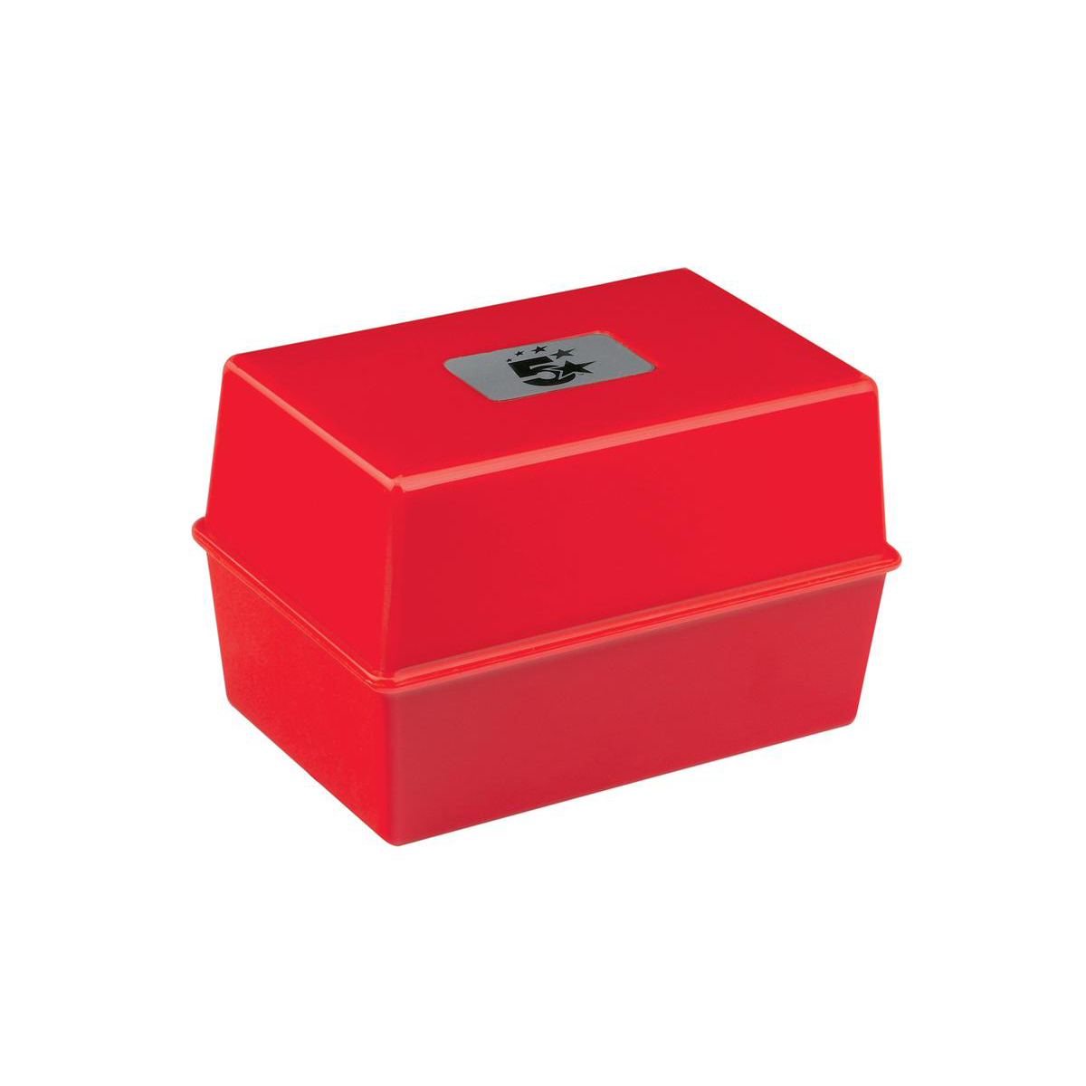 Image for 5 Star Office Card Index Box Capacity 250 Cards 5x3in 127x76mm Red