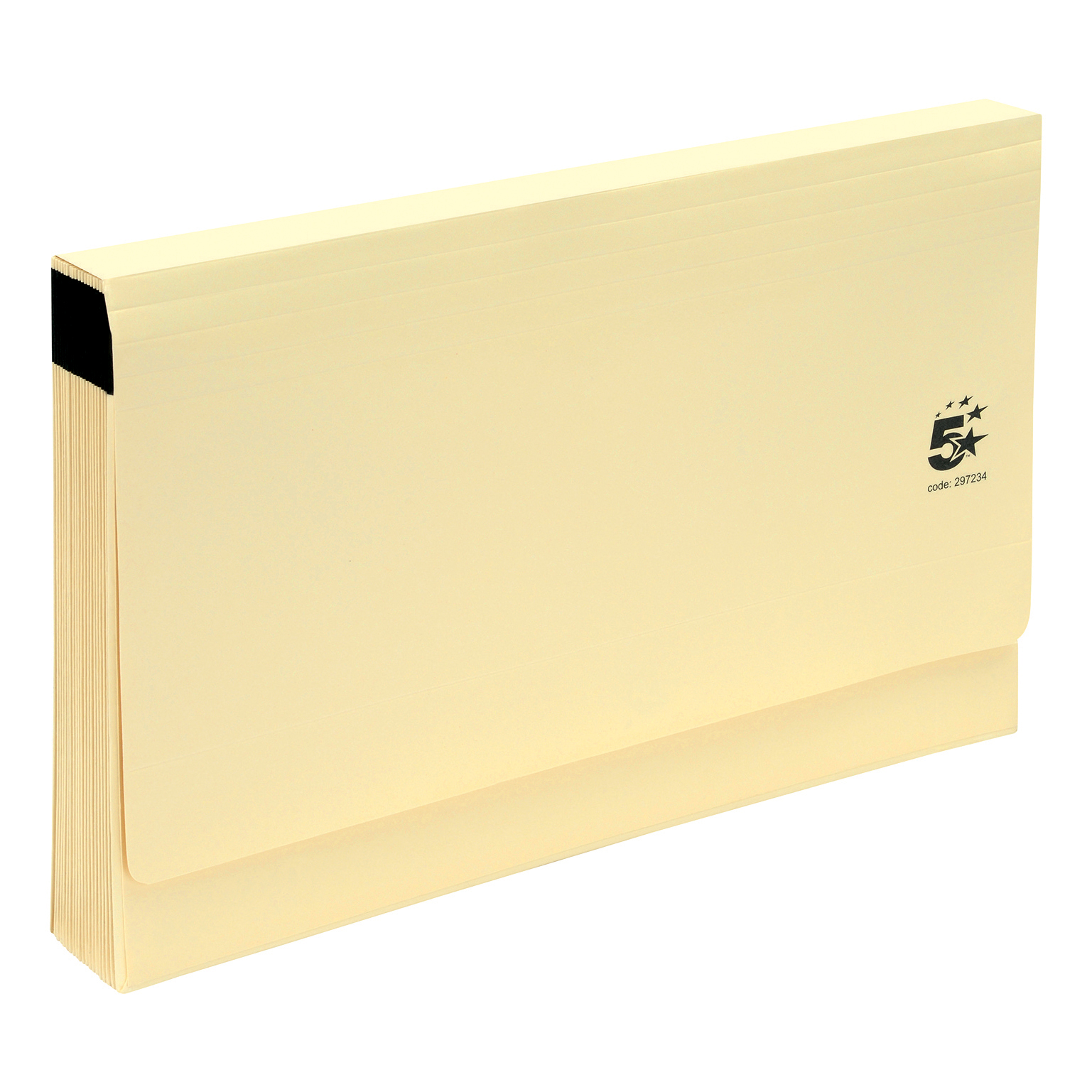 5 Star Office De Luxe Expanding File with Flap 19 Pockets A-Z Foolscap Buff